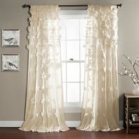 Riley 84-Inch Rod Pocket Window Curtain Panel in Ivory