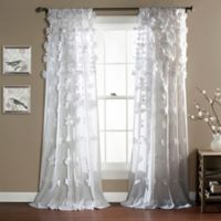 Riley 84-Inch Rod Pocket Window Curtain Panel in White