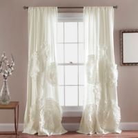 Lush Decor 84-Inch Serena Rod Pocket Window Curtain Panel Pair in Ivory