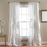 Lush Decor 84-Inch Serena Rod Pocket Window Curtain Panel Pair in White