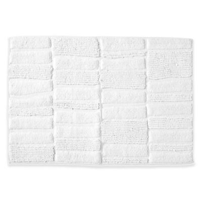 Buy Washable Rugs For Bathroom From Bed Bath Beyond - Black and white tweed bath rug for bathroom decorating ideas