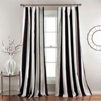 Wilbur Room 84-Inch Darkening Window Curtain Panel Pair in Black