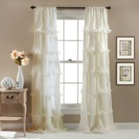 Nernia 84-Inch Rod Pocket Window Curtain Panel in Ivory