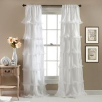 Nernia 84-Inch Rod Pocket Window Curtain Panel in White