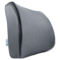 Orthopedic Memory Foam Lumbar Support Cushion in Grey