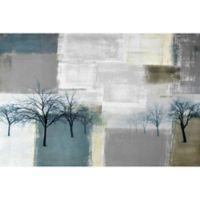 Parvez Taj Blue Trees 18-Inch x 12-Inch Canvas Wall Art