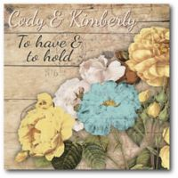 "Courtside Market ""To Have & To Hold"" Bouquet Canvas Wall Art"