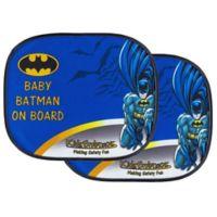"""KidsEmbrace® """"Baby Batman On Board"""" Window Shades (Set of 2)"""