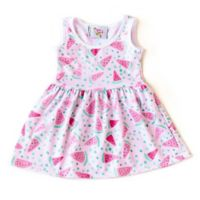 Pickles N' Roses™ Size 6-12M Watermelon Day Dress
