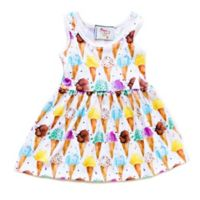 Pickles N' Roses™ Size 6-12M Ice Cream Cone Day Dress