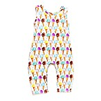 Pickles N' Roses™ Size 6-12M Ice Cream Cone Sleeveless Knit Coverall