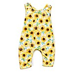 Pickles N' Roses™ Size 0-6M Sunflower Sleeveless Knit Coverall