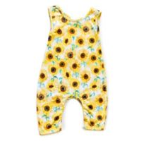 Pickles N' Roses™ Size 6-12M Sunflower Sleeveless Knit Coverall
