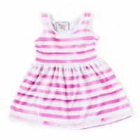 Pickles N' Roses™ Size 6-12M Striped Day Dress in Pink