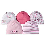 Gerber® Size 0-6M 5-Pack Floral Cuffed Caps