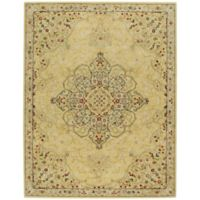 Capel Smyrna Medallion 8-Foot x 11-Foot Area Rug in Yellow