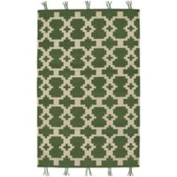 Capel Rugs Genevieve Gorder Hyland 7-Foot x 9-Foot Area Rug in Green