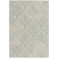 Capel Rugs Elsinore Heirloom 3-Foot 11-Inch x 5-Foot 6-Inch Area Rug in Light Blue