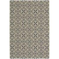 Capel Rugs Elsinore Tile 3-Foot 11-Inch x 5-Foot 6-Inch Indoor/Outdoor Area Rug in Beige