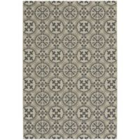 Capel Rugs Elsinore Tile 7-Foot 10-Inch x 11-Foot Indoor/Outdoor Area Rug in Beige