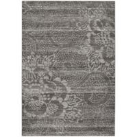 Capel Rugs Channel Floral 3-Foot 11-Inch x 5-Foot 6-Inch Area Rug in Dark Grey
