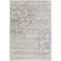 Capel Rugs Channel Floral 3-Foot 11-Inch x 5-Foot 6-Inch Area Rug in Grey