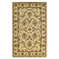 Capel Rugs Guilded Floral Wide Border 2-Foot 6-Inch x 3-Foot 6-Inch Accent Rug in Beige