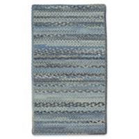 Capel Rugs Harborview Cross Sewn Braided 1-Foot 7-Inch x 2-Foot 6-Inch Accent Rug in Blue