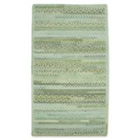 Capel Rugs Harborview Cross Sewn Braided 3-Foot x 5-Foot Area Rug in Green
