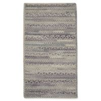 Capel Rugs Harborview Cross Sewn Braided 4-Foot x 6-Foot Area Rug in Grey