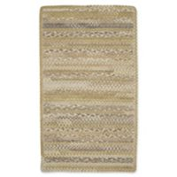 Capel Rugs Harborview Cross Sewn Braided 4-Foot x 6-Foot Area Rug in Beige