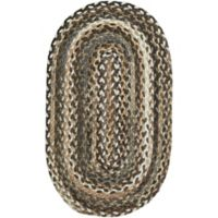 Capel Rugs Berkshire 7-Foot x 9-Foot Braided Oval Area Rug in Tawny