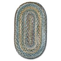 Capel Rugs Berkshire 8-Foot x 11-Foot Braided Oval Area Rug in Green