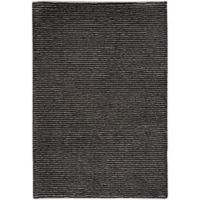 Capel Rugs Gravitation Thin Stripes 3-Foot 11-Inch x 5-Foot 6-Inch Area Rug in Black