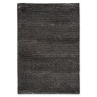 Capel Rugs Gravitation Thin Stripes 5-Foot 3-Inch x 7-Foot 6-Inch Area Rug in Black