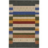 Capel Rugs Gava Stripes 3-Foot x 5-Foot Multicolor Area Rug