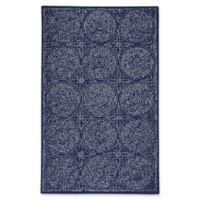 Capel Rugs Allure Medallion 5-Foot x 8-Foot Area Rug in Indigo
