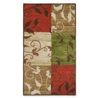Modern Living Leaf Vine Squares 1-Foot 6-Inch x 2-Foot 6-Inch Accent Rug