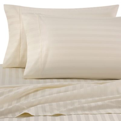 Wamsutta® Stripe 500 Thread Count PimaCott® Full XL Sheet Set In Ivory