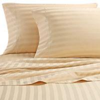 Wamsutta® Stripe 500-Thread-Count PimaCott® Olympic Queen Sheet Set in Honey
