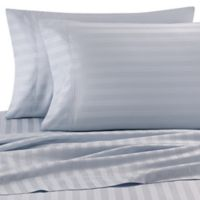 Wamsutta® Stripe 500-Thread-Count PimaCott® Dual California King Sheet Set in Light Blue