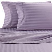 Wamsutta® Stripe 500-Thread-Count PimaCott® Full XL Sheet Set in Purple
