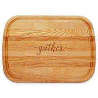 "Carved Solutions 21-Inch ""Gather"" Birch/Ash Everyday Board"