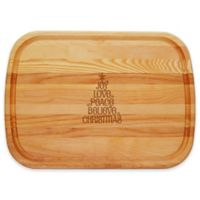 Carved Solutions Everyday Collection Joy-Love-Peace Tree 21-Inch x 15-Inch Cutting Board