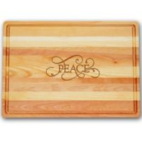 Carved Solutions Master Collection Peace 20-Inch x 14-1/2 Inch Cutting Board