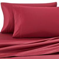 Wamsutta® Solid 500-Thread-Count PimaCott® Full XL Sheet Set in Burgundy