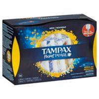 Tampax Pocket Pearl Compact 36-Count Regular Tampons
