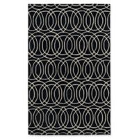 Kaleen Revolution Circles 9-Foot 6-Inch x 13-Foot Area Rug in Black