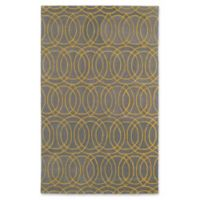 Kaleen Revolution Circles 9-Foot 6-Inch x 13-Foot Area Rug in Yellow