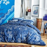 Hang Ten Pismo Beach Reversible Full/Queen Comforter Set in Navy